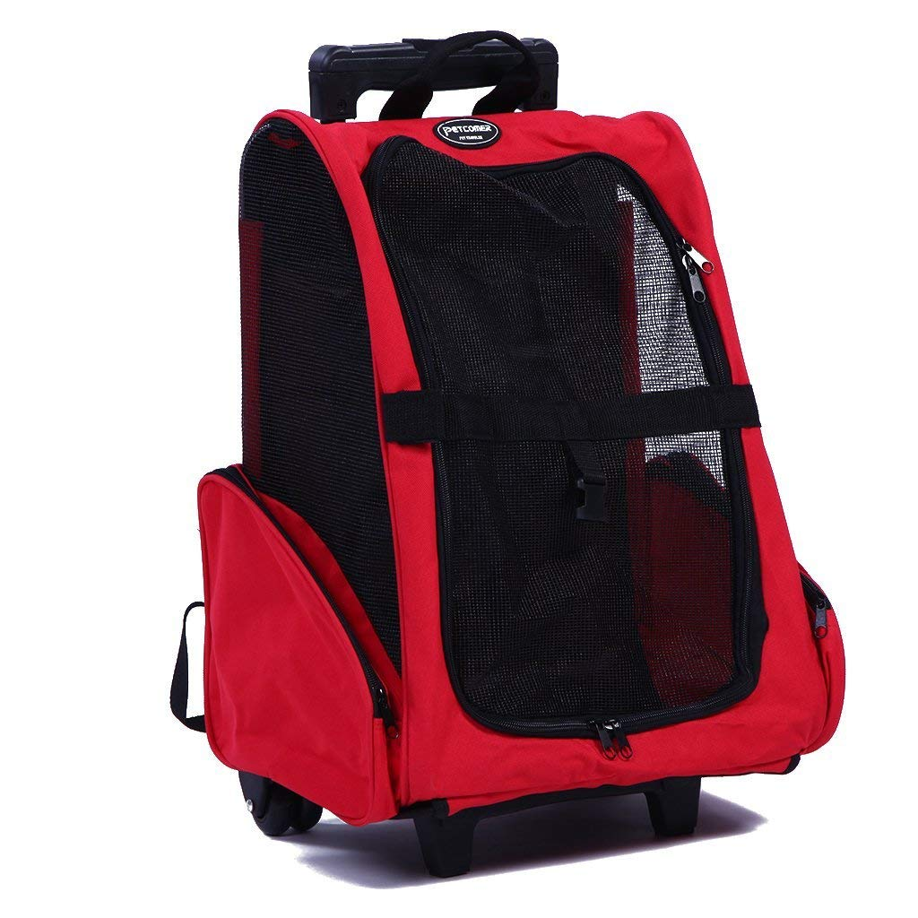 Pettom Pet Rolling Cat Carrier Backpack