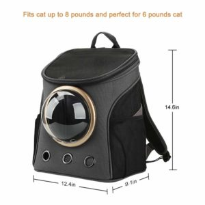 Texsens Canvas Transparent and Breathable Capsule Portable Pet Backpack