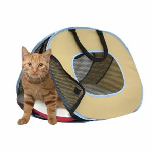 Cat Carrier With Zipper Lock- Foldable Travel Cat Carrier