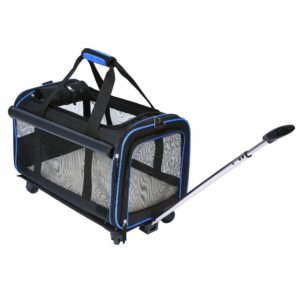 YOUTHINK Travel Airline Approved Cage Crate Wheel Carriers for Cat