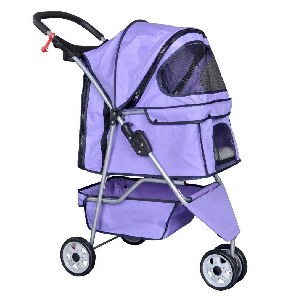 BestPet Pet Stroller Cat Dog Cage 3 Wheels Stroller