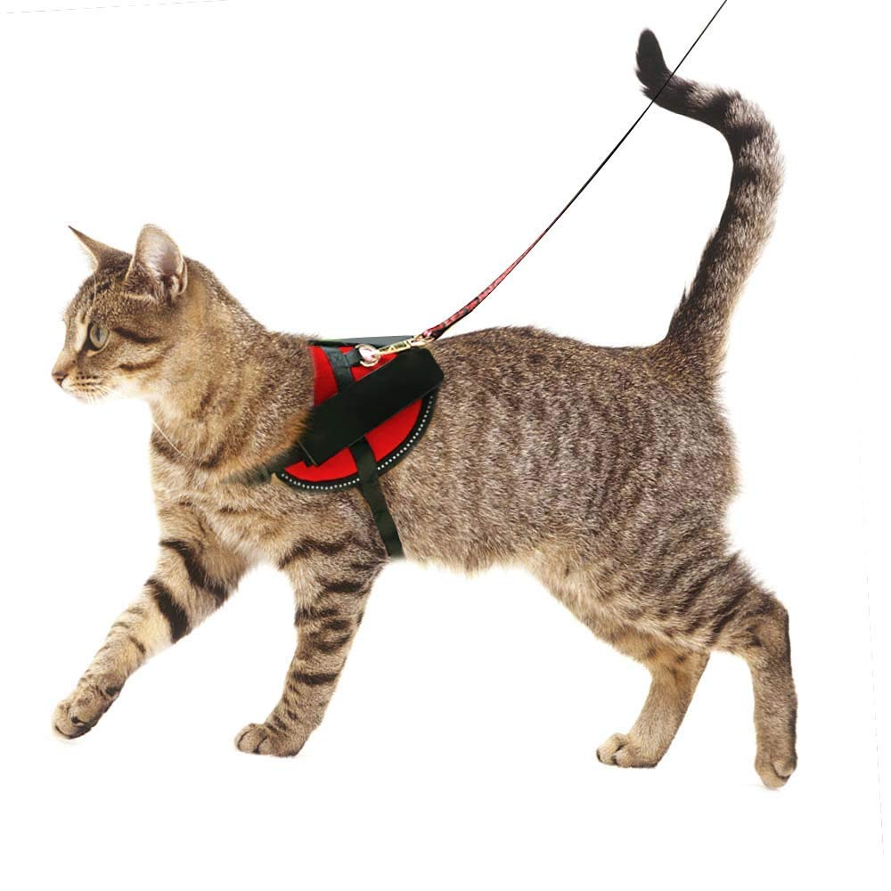 SHUNAI No Pull Cat Harness Padded Vest for Pet