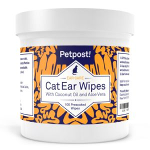 Petpost Pet Ear Cleaner Wipes for Dogs and Cats