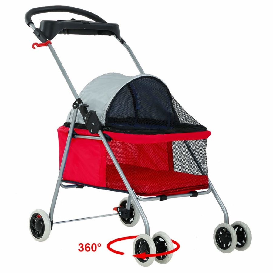 4 Wheels Pet Stroller BestPet Posh Waterproof