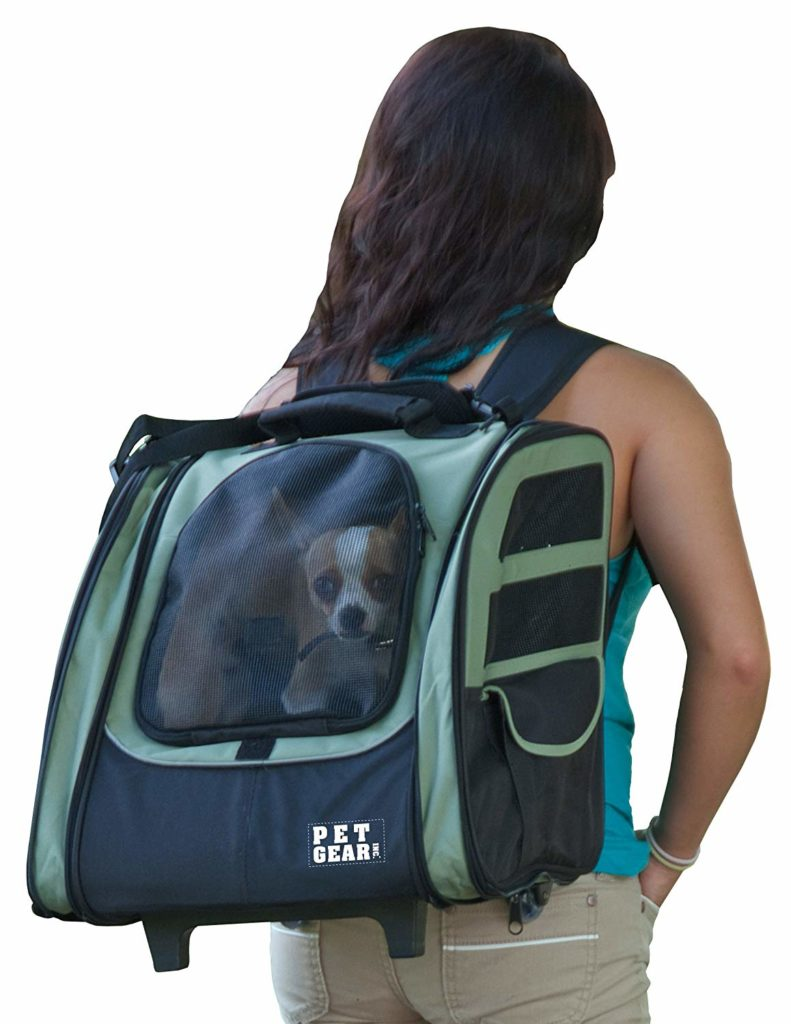 Pet Gear I-GO2 Roller Backpack for Cats and Dogs