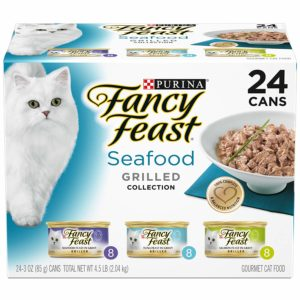 Purina Fancy Feast Gravy Wet Cat Food Variety Pack, Seafood Grilled Collection